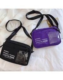 Дамска чанта в лилаво спортен модел с дълга дръжка - код B28-822