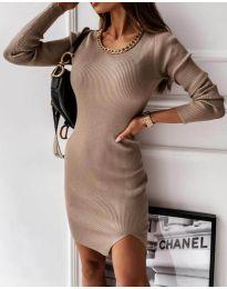 Šaty - kód 4545 - bežová