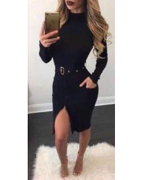 Šaty - kód 2053 - 2 - čierná