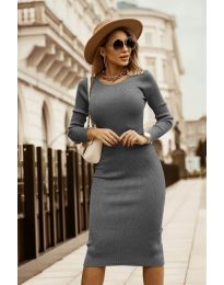 Šaty - kód 8485 - šedá