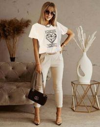 Tričko - kód 1547 - biela