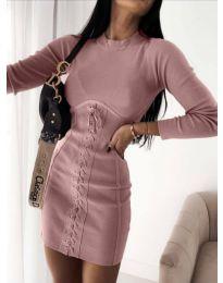 Šaty - kód 4453 - 1 - pudrová