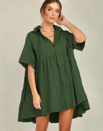 Šaty - kód 6464 - olivová  zelená