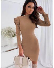 Šaty - kód 2915 - 1 - hnedá