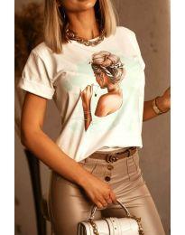 Tričko - kód 5189 - biela