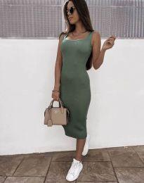Šaty - kód 5964 - olivovo zelená