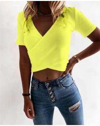Tričko - kód 1102 - neon žuta