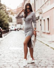 Šaty - kód 6593 - šedá