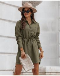Šaty - kód 132 - olivová  zelená