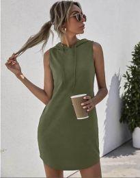 Šaty - kód 1687 - olivovo zelená