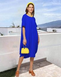 Šaty - kód 5554 - modrý