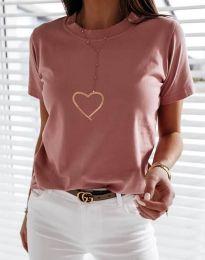 Tričko - kód 3701 - pudrová
