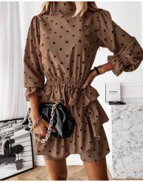 Šaty - kód 3665 - hnedá