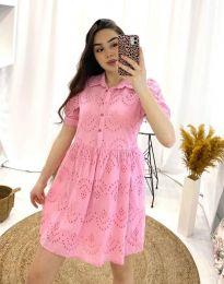 Šaty - kód 0517 - 2 - ružová