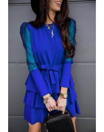 Šaty - kód 8384 - tmavomodrá
