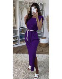 Šaty - kód 7049 - tmavě fialová