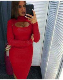 Šaty - kód 2144 - 9 - červená