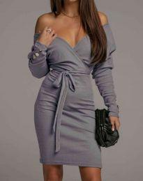 Šaty - kód 4765 - šedá