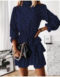 Šaty - kód 3665 - tmavomodrá