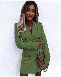 Šaty - kód 5889 olivovo zelená