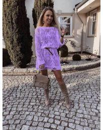 Šaty - kód 6208 - fialová