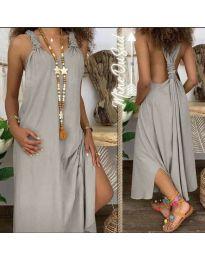 Šaty - kód 9597 - šedá