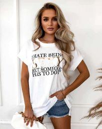 Tričko - kód 4578 - biela