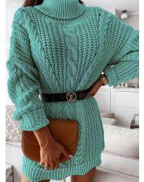 Šaty - kód 6071 - tyrkysová