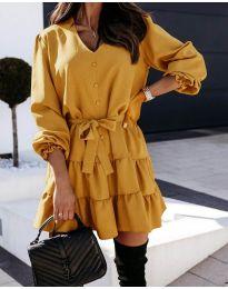 Šaty - kód 8272 - hořčičná