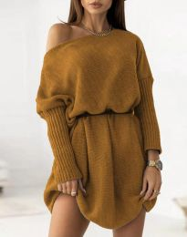 Šaty - kód 6940 - hnedá