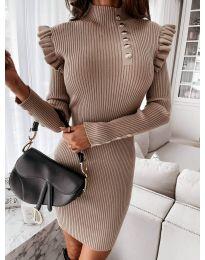 Šaty - kód 0763 - cappuccino
