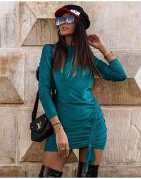 Šaty - kód 9545 - tyrkysová
