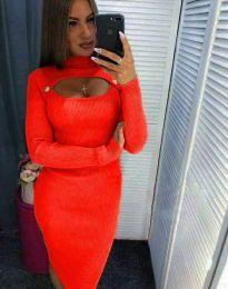 Šaty - kód 2144 - 7 - oranžová