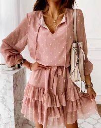 Šaty - kód 7113 - pudrová
