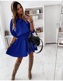 Šaty - kód 8586 - modrá