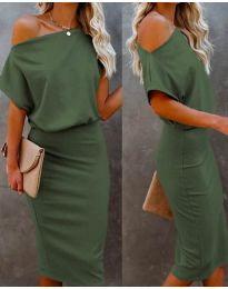 Šaty - kód 1737 - olivovo zelená