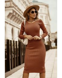 Šaty - kód 8485 - hnedá