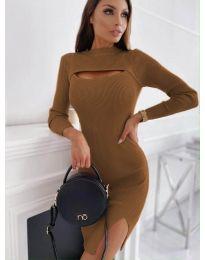 Šaty - kód 4528 - hnedá