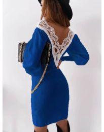 Šaty - kód 1718 - tmavomodrá