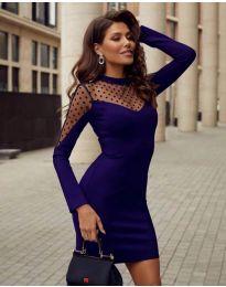 Šaty - kód 2484 - tmavomodrá