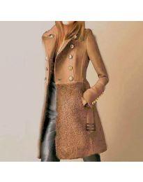 Kabát - kód 3100 - 1 - hnedá