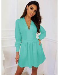 Šaty - kód 089 - tyrkysová
