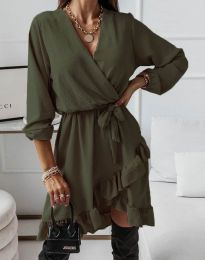 Šaty - kód 5371 - olivovo zelená