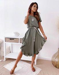 Šaty - kód 11893 - olivovo zelená