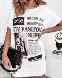 Šaty - kód 7775 - biela
