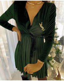 Šaty - kód 8619 - 2 - olivová  zelená
