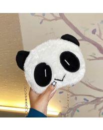 Дамска чанта в бяло с форма на панда - код B53 - 1