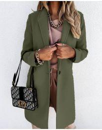 Kabát - kód 7709 - olivová  zelená