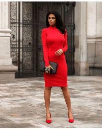 Šaty - kód 7099 - 2 - červená