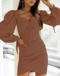Šaty - kód 0363 - hnedá